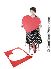 Valentine Pinup - Valentines day classic pinup girl pose,...
