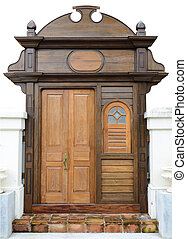 The retro wooden door