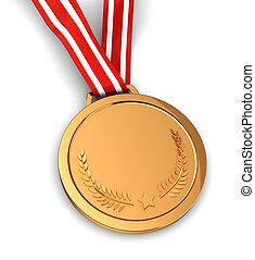 Winner - 3d of golden medal -  winner sport champion