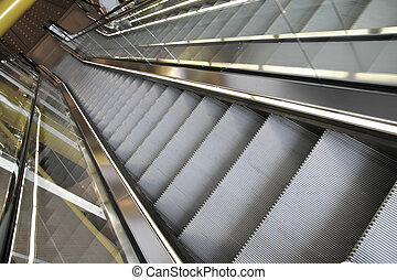 Escalator - Photo of a modern escalator.