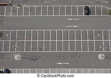 Car Park - A Parking space from above.