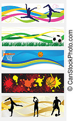Web sport headers - Collection of abstract sport heades or...