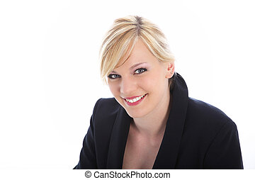 Smiling office worker or professional - Head and shoulder...