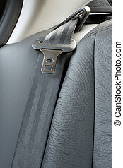 Safety belt in a car, a vertical picture