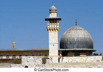 Israel Travel Photos - Jerusalem - Al-Aqsa Mosque on Temple...