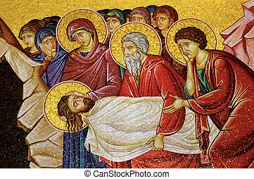 Israel Travel Photos - Jerusalem - Mosaic of jesus christ at...
