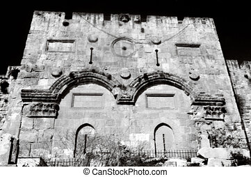 Israel Travel Photos - Jerusalem - The Gate of Mercy and...