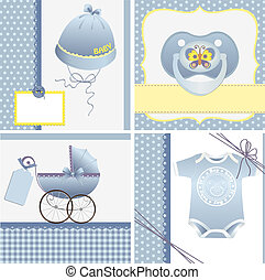 Cute templates for baby card