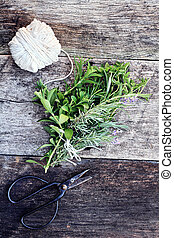 Herb Bundle - Fresh organically grown herbs tied together in...