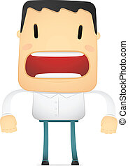 funny cartoon casual man in various poses for use in...