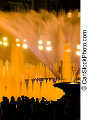 Detail of Magic Fountain of Montjuic