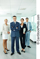 Group of managers - Portrait of business partners looking at...