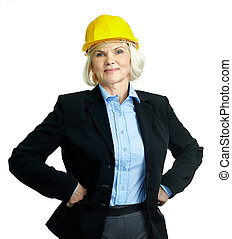 Successful architect - Portrait of smiling businesswoman in...