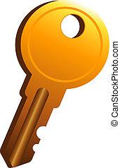 Key over white
