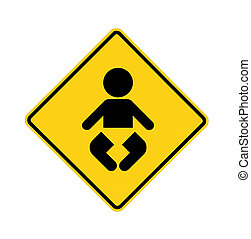 road sign - baby