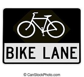 road sign - bike lane