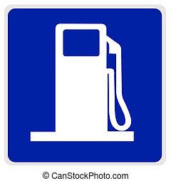 road sign - gas pump