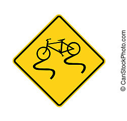 road sign - slippery bike