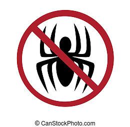 sinal, -, aranhas