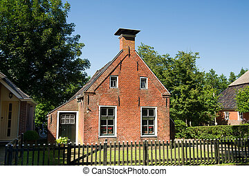 Old house in Friesland - Typical old house in the little...