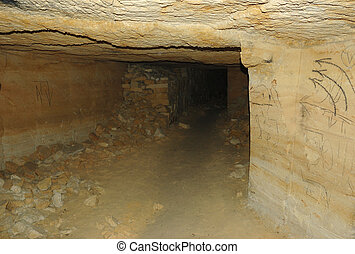 Longest catacombs network in the world,Odessa, Ukraine,19-20...