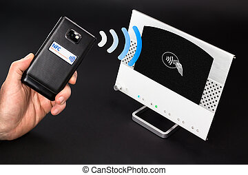 NFC - Near field communication mobile payment - NFC payment...