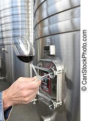 vinho, Fábrica