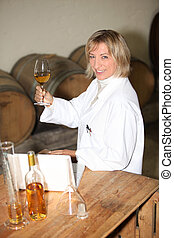 Woman winemaker