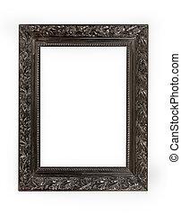 Black frame - Vintage style of engraved black picture frame...