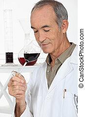 expert tasting wine