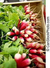 Box of radishes