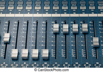 digital studio mixer faders