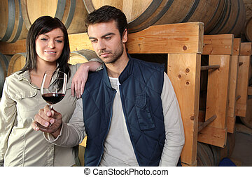 Wine tasting at the winery
