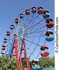ferris wheel in park in Sevastopol