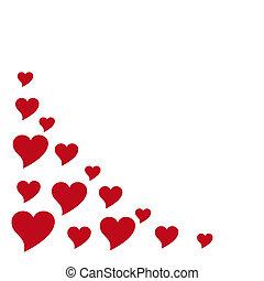 hearts - left corner frame design