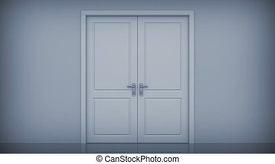 Doors opening to a bright light. Alpha Channel is included....