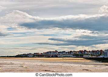 Bridlington seaside resort - An evening view of Bridlington,...