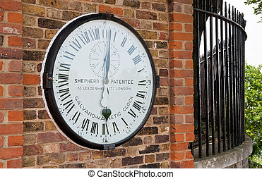 Greenwich clock at the Royal Observatory