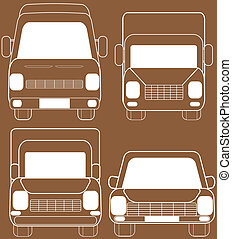 isolated transport silhouette