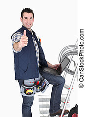 Electrician giving thumbs-up