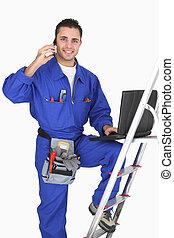 electricista, Posar, el suyo, edificio, Materiales,...
