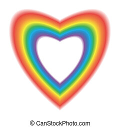 Heart in Rainbow Colors