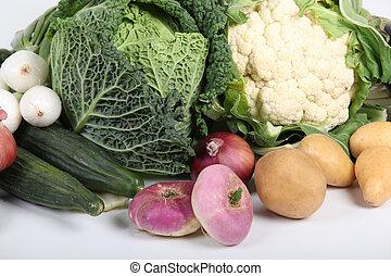 invierno, vegetales