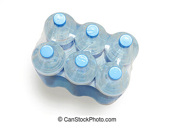 Six pack of mineral water