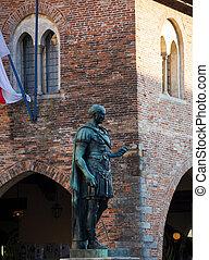 Roman Emperor's statue, Cividale del Friuli. Italy