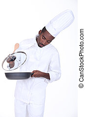 A chef in the kitchen