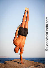 strength, strong man training outdoors