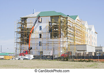 Hotel Construction - New hotel going up in town, Delivery...