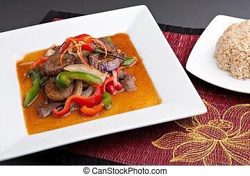 Spicy Thai Eggplant Stir Fry - A beautifully presented dish...