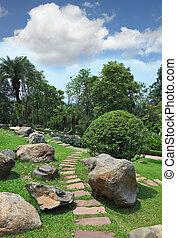 Masterpiece of landscape design - park in Thailand